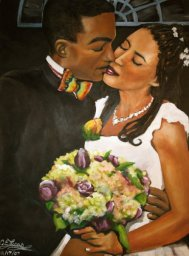 Galvin Wedding Portrait - Acrylic on Canvas - SOLD (Boston, MA)