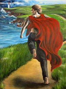 Savior Siren Sovereign Part 1: Savior- Acrylic on Canvas - SOLD (Paris, France)