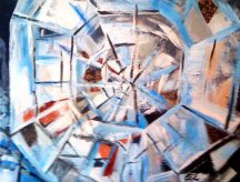 Faceted Brilliance - Acrylic on Canvas - SOLD (Ramsey, NJ)
