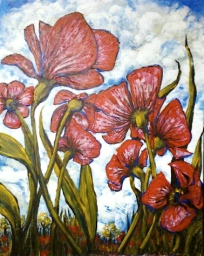 Poppyfield #2 - Acrylic on Canvas (Available for Sale)