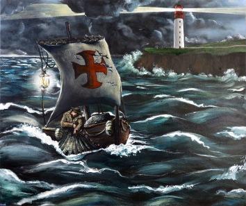 Savior Siren Sovereign Part 3: Sovereign - Acrylic on Canvas - SOLD (Paris, France)