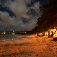 Vigie Beach at Night