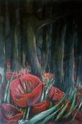 Poppyfield #1- Acrylic on Canvas - SOLD (Easton, PA)