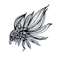 Spiral Wing Tattoo