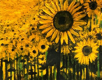 Sunflower Forest - Acrylic on Canvas (Private Collection)