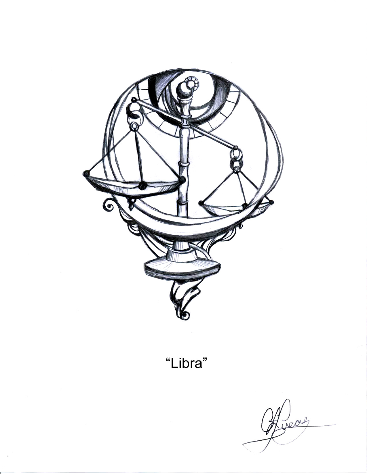 libra writing tattoos