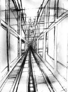 Elevated Reinforced Glass Pedestrian Walkway Concept #1