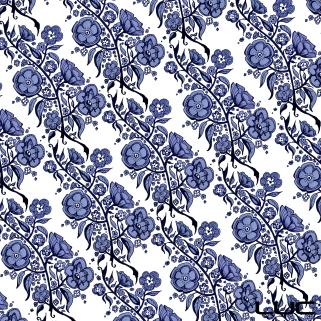 Blue China #4 - Digital Pattern