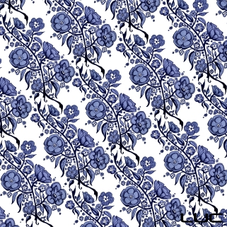 Blue China #4 - Digital Pattern