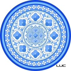 Blue China Hydrangea Mandala
