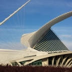 Closeup of Milwaukee Art Museum