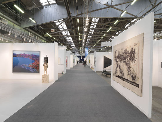 View of Main Avenue at Armory Show 2013