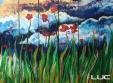 Poppyfield #5 - Acrylic on Wood - SOLD (Bethlehem, PA)