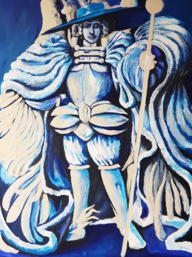 Angelo Calamarca (In Progress)- Acrylic on Canvas