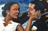 Austin-DuBoulay Wedding Portrait- Acrylic on Canvas - SOLD (Miami Beach, FL)