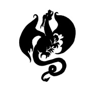 European Dragon Crest Tattoo