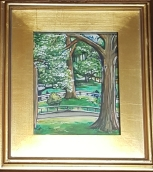 Spring in Central Park - Mixed Media on Paper (Private Collection)